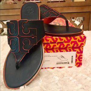 c8216661f Tory Burch Shoes - Tory Burch Jamie Logo Sandal Sz 7
